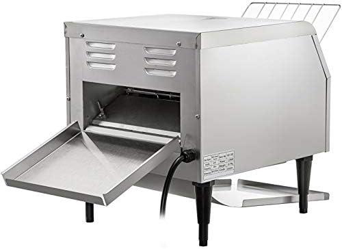 VEVOR 2200W Commercial Conveyor Toaster,300PCS/Hour 110V Heavy Duty Stainless Steel Toaster for Restaurant Breakfast, Sliver