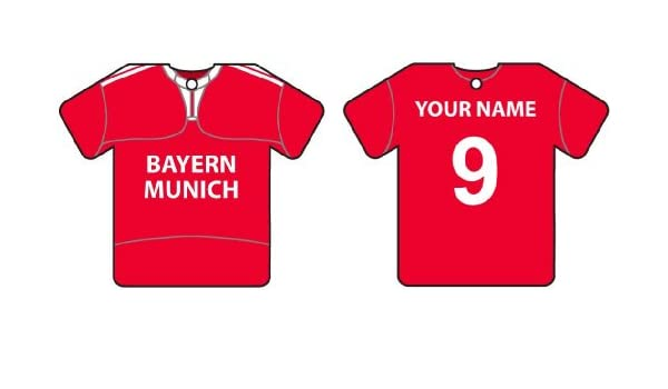 the latest 16aa6 1f41a Personalized Bayern Munich Football Shirt Car Air Freshener ...