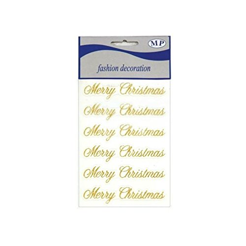Stickers Merry Christmas Glitter Oro piovaccari srl
