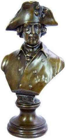 der Große Fritz Friedrich II Büste Bronzefarbene Büste mit Dreispitz Hut