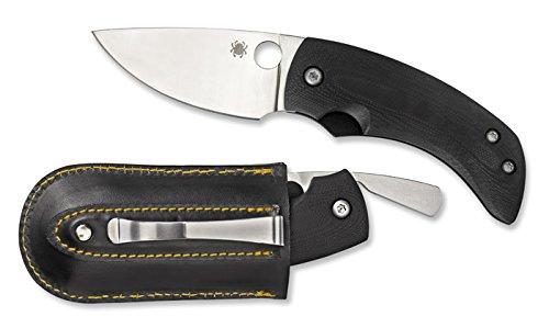 Spyderco Friction Folder G-10 Plain Edge Knife, Black