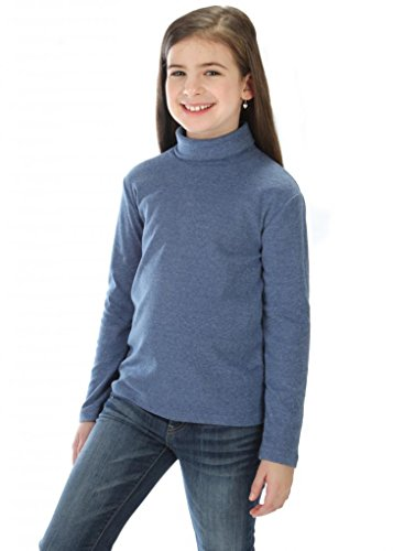 high5 solid Color Turtleneck 100% Cotton Size 13-14 Years ()