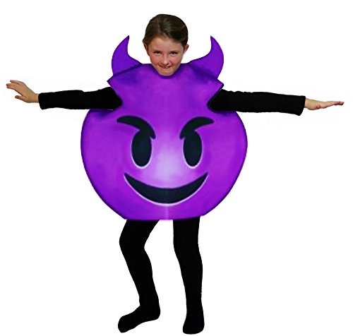 Devil Costumes Child (Favorite Emoticon Emoji Costumes for Boys and Girls with Bonus Emoji Sticker Sheets (Child, Devil))