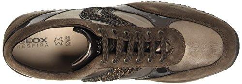 Geox D Happy a, Zapatillas Altas para Mujer Braun (Chestnut/LEADC6J9H)