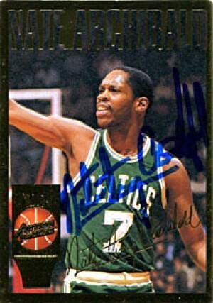 Nate Archibald Signed 1994 Action Packed Card - Autographed Basketball Cards