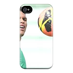 New Cute Funny Psg Thiago Silva Looking At The Ball Case Cover/ Iphone 4/4s Case Cover