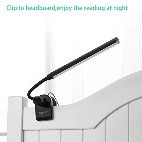 Lelife Clip On Light,5W,Screw Clamp,with Dimmer,Touch Sensitive Control,with Memory Function,Perfect Reading Light Clamp On Lamp for Clip On Headboard Warm Light) by Lelife (Image #1)