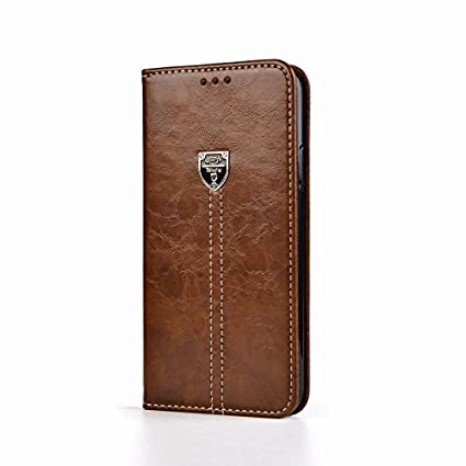 the best attitude e97ca a4e94 D-kandy for Samsung Galaxy S6 Edge, Leather Flip Wallet Case Stand with  Card Holder, Magnetic Closure Cover for Samsung Galaxy S6 Edge - Brown