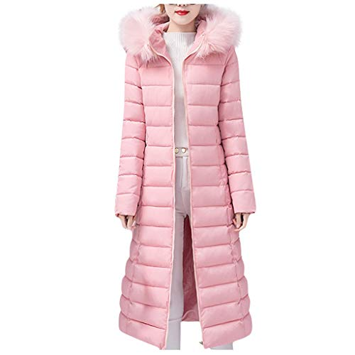 Appaman Coat Sale (iHHAPY Down Jacket Women Long Winter Jacket Warm Coat Parka Jacket Quilted Coat Solid Padded Jacket with Faux Fur)