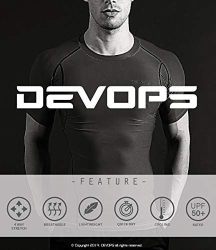 DEVOPS 2~3 Pack Men's Athletic Long Sleeve Compression Shirts
