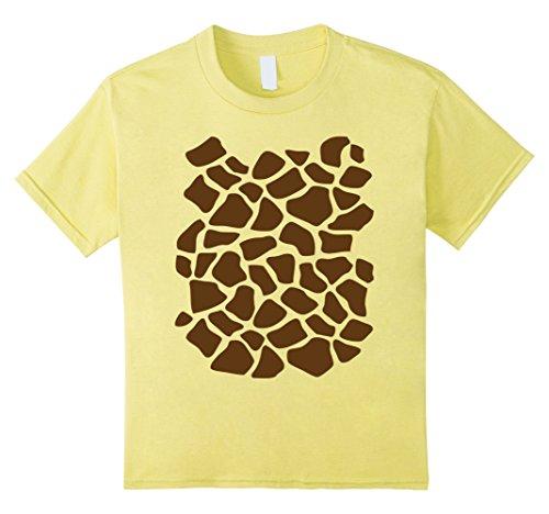 Magical Ideas Girl Costume (Kids Giraffe Print Shirt, Simple Halloween Costume Idea Gift 12)