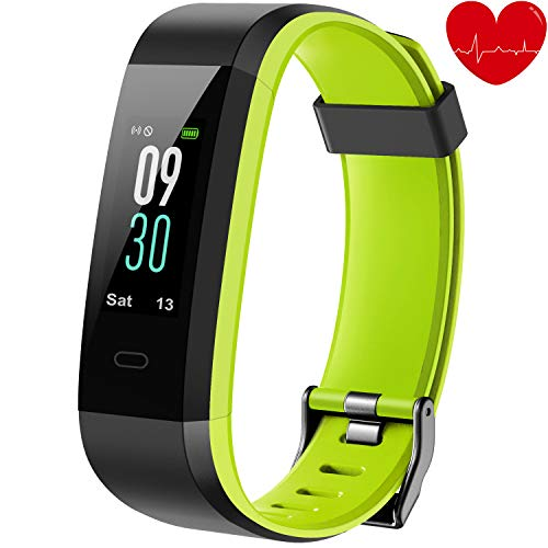 Lotyes Fitness Tracker,Color Screen Waterproof Heart Rate Activity Tracker with Sleep Monitor,Step Counter,Double Color Strap for Kids,Women and Men