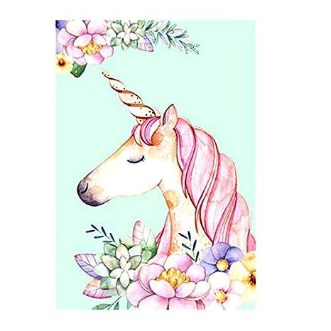 LLTYED Flor Nórdica Flamenco Cartel Unicornio Animal ...