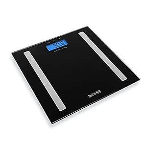 Duronic BS501 Báscula de Baño Digital de Alta Precisión Análisis de Masa Corporal, Índice de Grasa, Porcentaje de Masa Muscular, Porcentaje de ...