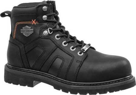 Harley Davidson Work Boots, Mens, 10, Low Lug, 5inH, PR