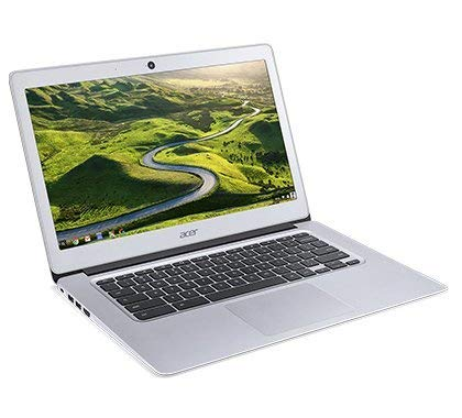 Newest Acer 14inch Flagship Chromebook, Intel Quad-Core Atom E8000 Up to 2.00GHz Processor, 4GB RAM,32GB SSD, WiFi, HDMI, Chrome OS-(Renewed) (Silver/Atom)
