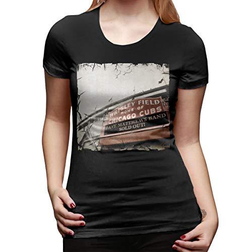(Dave Matthews Live at Wrigley Field Band Woman Loose Slim Tee Shirt M Black)