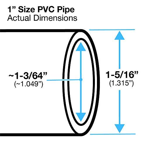 FORMUFIT P001FGP-RD-5 Schedule 40 PVC Pipe, Furniture Grade, 5', 1