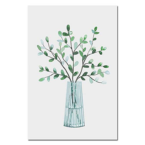 Be fearless Scandinavian Style Watercolor Plant Leaf, used for sale  Delivered anywhere in USA