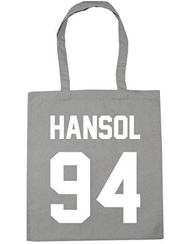 HippoWarehouse Hansol–�?4(impreso en el) bolsa de la compra bolsa de playa negro 42cm x38cm, 10litros gris claro