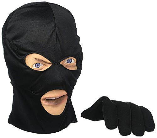 Scary Peeper Halloween Decoration-Burglar Prank Face and Hand Look Alike -