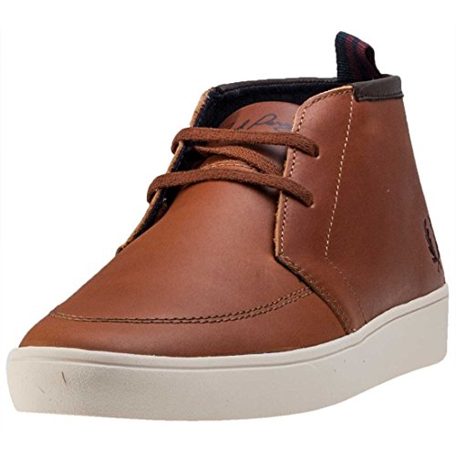 Fred Perry Shields Mid Leather Tan Tan (Braun)