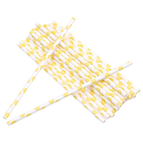 YARNCORP-Event & Party Supplies-25Pcs Disposable Paper Straws Stripe Drinking Straws for Party Birthday Wedding Decoration New Year Party Supplies (Style 03) (Kong Straw)