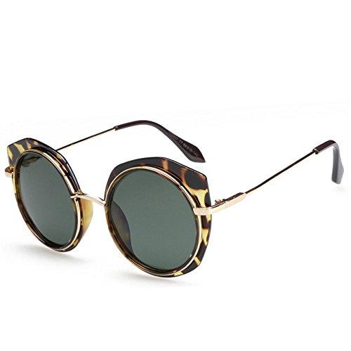 polarisé ont élégantes dames Uv400 la Les d'ombre green protection de de 99 de frontière rondes lunettes qU8Sxw1z