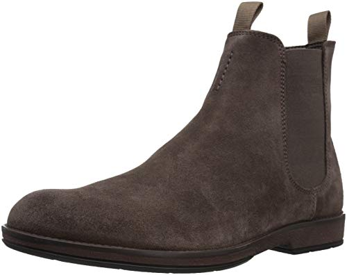 Picture of CLARKS Men's Hinman Chelsea Boot, Dark Taupe Suede, 130 M US