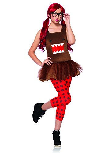 Leg Avenue Women's 3 Piece Nerd Domo Tutu Dress, Brown, -