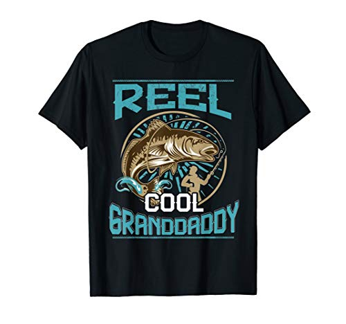 Reel Cool Granddaddy - Fishing Gift T Shirt For Dad Granddad