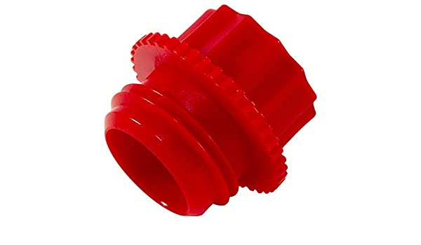 Pack of 200 Red P-28B Caplugs 99394672 Plastic Threaded Plug for Pipe Fittings PE-HD to Plug Thread Size 1//4 NPT