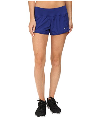 Nike Womens Crew Shorts Deep Royal Blue/Reflective Silver Shorts X-Large