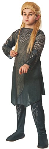 The Hobbit: Desolation of Smaug, Child Legolas Costume, Large - Large One Color - Hobbit Costume Shirt