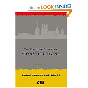 The economic effects of constitutions: Munich lectures Guido Tabellini, Torsten Persson