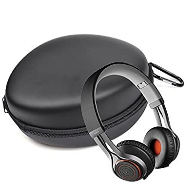 Case Star ® Black Color EVA Hard Shell Carrying Headphones Case / Headset Case Travel Bag for Audio Technica ATH-SJ11 FC700 SJ33 SJ55 SJ3 SJ5 FW3 FW33, AKG K450 Q460 K480 Headphones