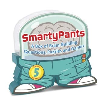 Melissa & Doug Smarty Pants 5th Grade Card Set - 120 Educational, Brain-Building Questions, Puzzles, and Games