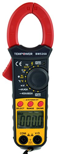 Tekpower TP5268 Digital Clamp Meter AC/DC Voltage 600V,AC Current 600A, Upgraded Mastech DT266 , Much better