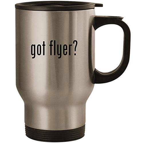 got flyer? - Stainless Steel 14oz Road Ready Travel Mug, Silver ()
