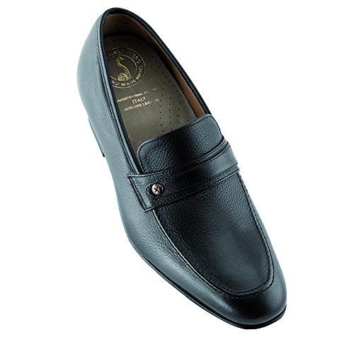 Masaltos Zapatos de Hombre con Alzas Que Aumentan Altura Hasta 7 cm. Fabricados EN Piel. Modelo Bruxelles Negro