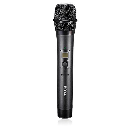 BOYA by-WHM8 Pro 48-Channel UHF Wireless Dynamic Handheld Cardioid Microphone Transmitter for by-WM8 Pro Series Microphone System for Interview Presentation Talk Show Speech