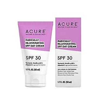 ACURE Radically Rejuvenating SPF 30 Day Cream   100% Vegan   Provides Anti-Aging Support   Turmeric, Ferulic Acid & Vitamin C - Provides Sun Protection & Antioxidants   1.7 Fl Oz