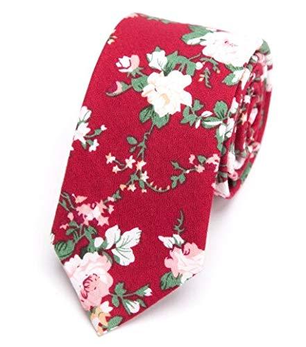 LFLJIE Corbata para Hombre Algodón Flor Corbata 6CM Moda Hombres ...