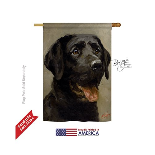 Breeze Decor - Black Lab Nature - Everyday Impressions Decorative Vertical House Flag 28