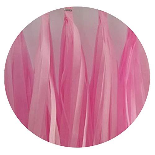 Boom-moon 5 PCS/lot 14 Inch Tissue Paper Tassel Garland Flower for Birthday Wedding Party Decoration,Pink