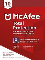 McAfee Total Protection 10 + VPN - Antivírus - Programa premiado de proteção contra ameaças digitais multi dis