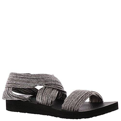 Skechers Cali Women's Meditation-Still Sky Flat Sandal,gray,9 M US (Best Shoes For Pregnant Women)