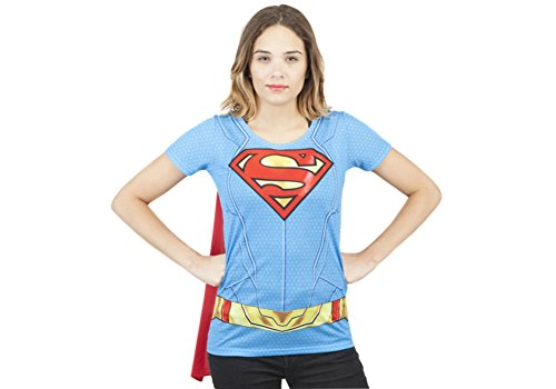 Bioworld-Supergirl-Suit-Up-Sublimated-Cape-Tee