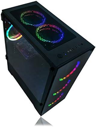 ALARCO GAMING PC DESKTOP COMPUTER INTEL I5 3.10GHZ,8GB RAM,1TB HARD DRIVE,WINDOWS 10 PRO,WIFI READY,VIDEO CARD NVIDIA GTX 650 1GB, 6 RGB FANS WITH REMOTE