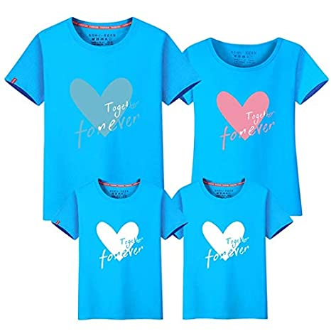 3d9990225cbff Family Matching Outfit Summer Short Sleeve T Shirt Top Clothes ...
